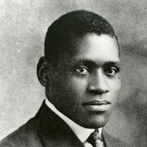 Paul Robeson Rutgers yearbook print 1920